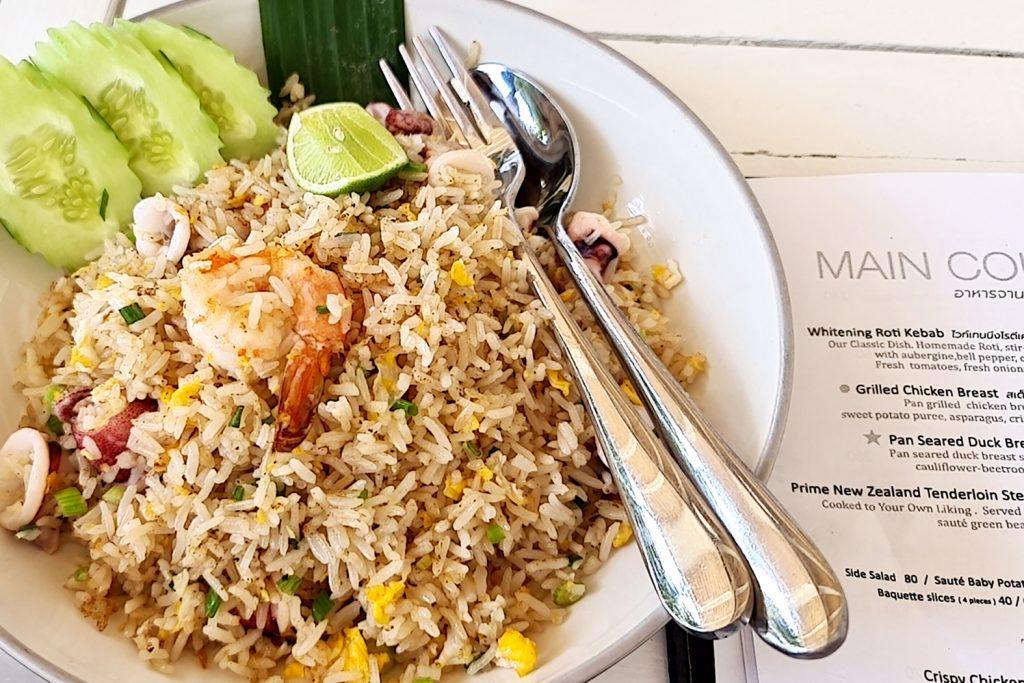 ข้าวผัดทะเล - เมนู