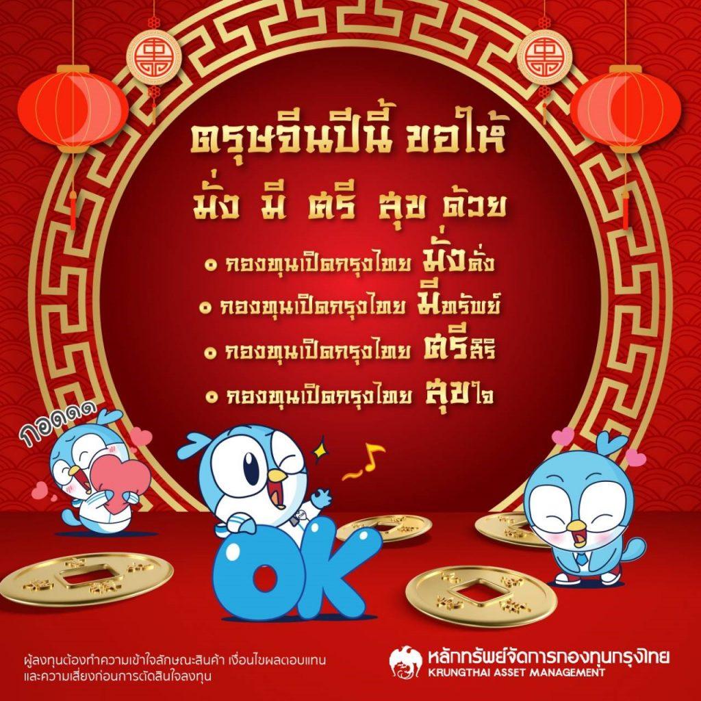 """บลจ.กรุงไทย แนะลงทุน """"มั่งมีศรีสุข"""" ต้อนรับตรุษจีน  2564"""